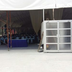 Aluminum Double Leaf Door Comes With Frame