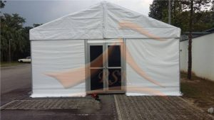 Marquee Tent Fully Closed with Transparent Window