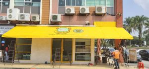 Fabric Awning with Logo