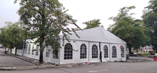 Marquee Tent with Transparent Window