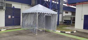 Pyramid Canopy c/w Transparent Sidewall