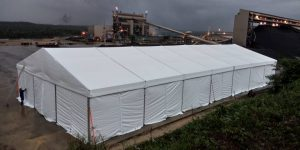 Marquee Tent 15m with Plain Sidewall