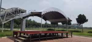 Halfmoon Canopy with Stage and Awning