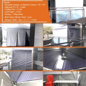 Pyramid Canopy 10' x 10' Flyers