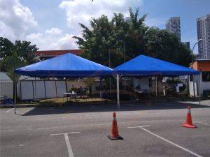 Blue Pyramid Canopy