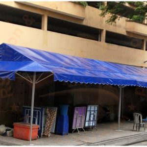 Blue A-Shape Canopy cw Awning
