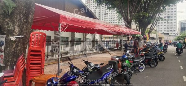 A-shape Canopy 11' x 42' - Red Canvas