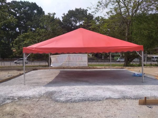 Pyramid Canopy - Red Canvas