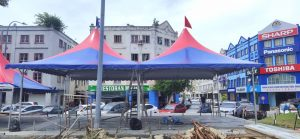 Star Arabian Canopy cw Awning - Red Blue