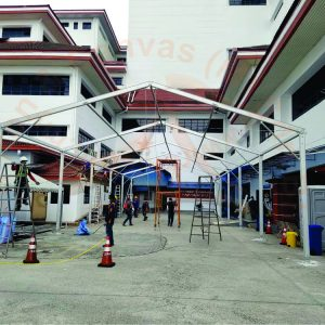 9m Marquee Tent 6 Blog in Hospital HUKM, Cheras