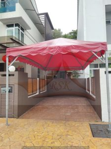 Pyramid Canopy Red Canvas