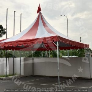 Arabian Canopy with Stripe Canvas - Red White