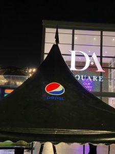 Black Arabian Canopy with Pepsi logo and Black Sidewall