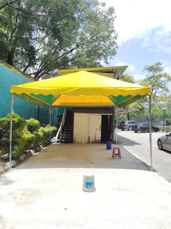 2 color Pyramid Canopy with Logo