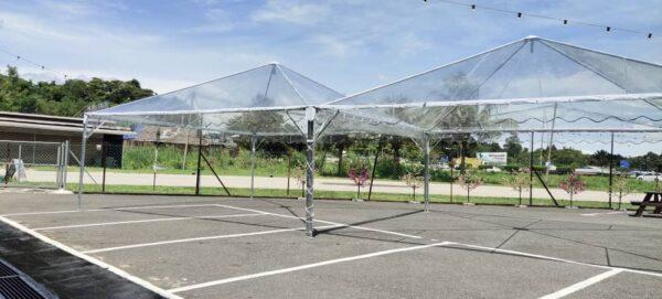 Transparent Pyramid Canopy