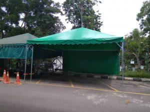 Green Pyramid Canopy with Sidewall