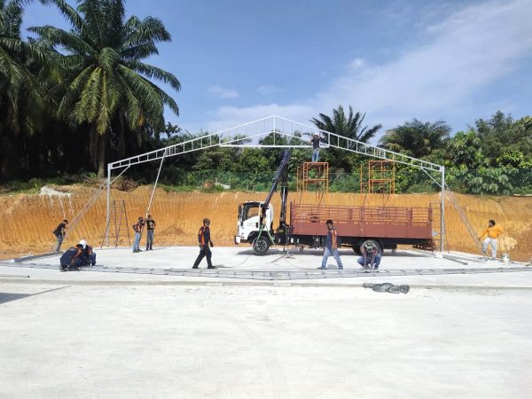 Custom Size A-Shape Canopy Metal only