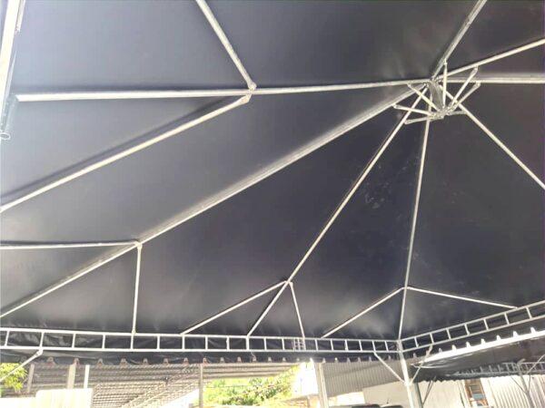 Custom Pyramid Canopy c/w black canvas