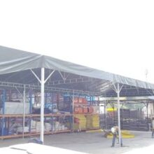 Custom-size A-shape canopy with green canvas-1