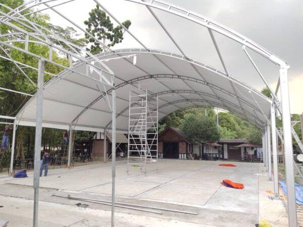 Halfmoon Marquee Tent c/w Underlayer
