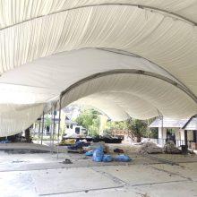 Halfmoon Marquee Tent cw Underlayer-5