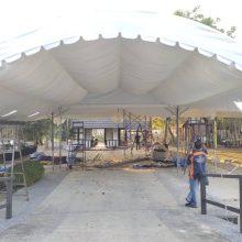 Halfmoon Marquee Tent cw Underlayer-6