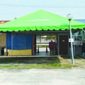 2 set Green Color Pyramid Canopy with Logo in Pandamaran, Klang
