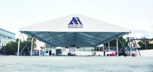 15m Marquee Tent with Logo in Usedcar, Kelantan