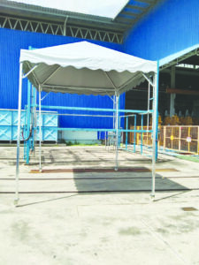 Pyramid Canopy with wheels (12' x 10' x (H) 10'