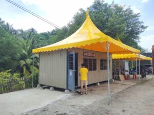 Arabian Canopy with Yellow Canvas - 20' x 20'